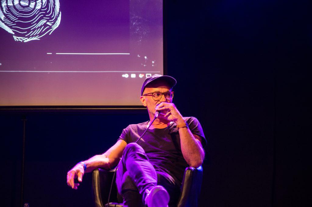 »AI – What's up with that?« (Stephan Baumann) / Talk @ Frannz Club – Photo: Käthe deKoe