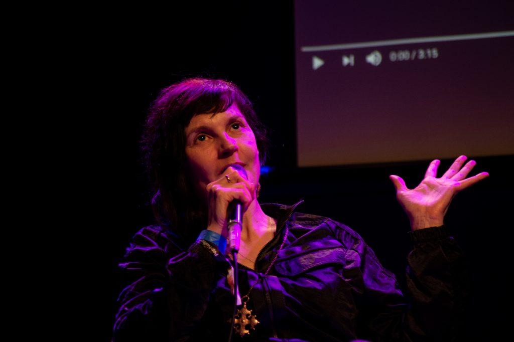 »AI – What's up with that?« (Jovanka von Wilsdorf) / Talk @ Frannz Club – Photo: Käthe deKoe