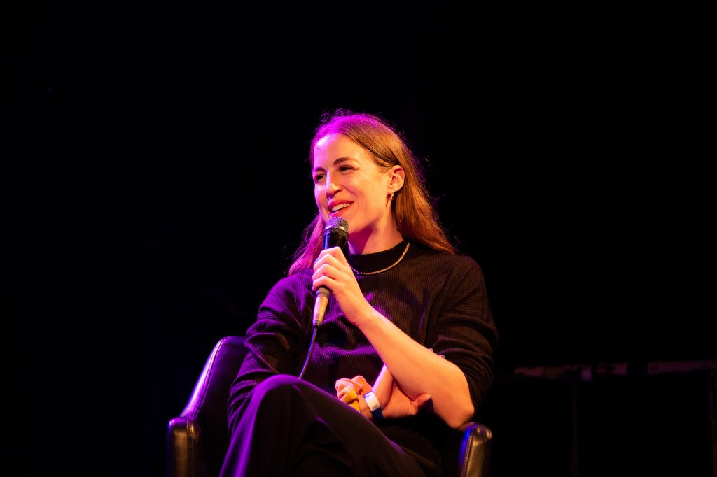 »AI – What's up with that?« (Dorothea Winter) / Talk @ Frannz Club – Photo: Käthe deKoe