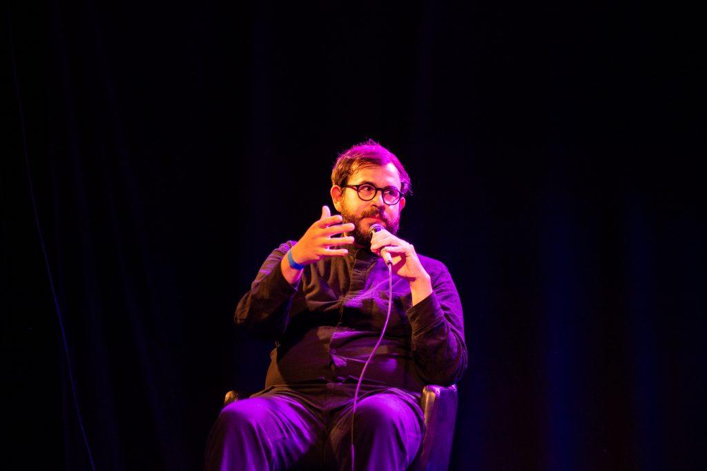 »AI – What's up with that?« (Moises Horta) / Talk @ Frannz Club – Photo: Käthe deKoe