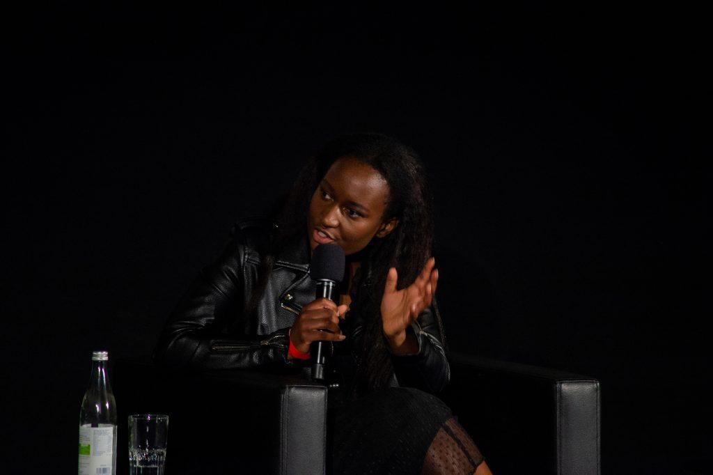 »Blackout Tuesday – Auswirkungen für die deutsche Musikindustrie« (Ana Rungo) / Talk @ Kino in der Kulturbrauerei – Photo: Käthe deKoe