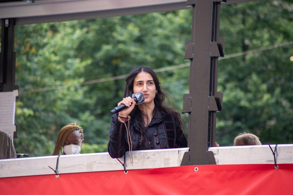 »Pop-Kultur« Opening (Leyla Yenirce) – Photo: Käthe deKoe