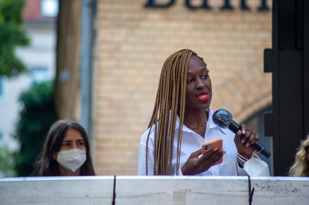»Pop-Kultur« Opening (Pamela Owusu-Brenyah) – Photo: Käthe deKoe