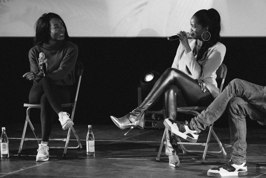 Freak de l'Afrique: »Afro x Beats x Berlin« (Bella Garcia, DJ Nomi) / Talk @ Kino in der Kulturbrauerei – Photo: Camille Blake