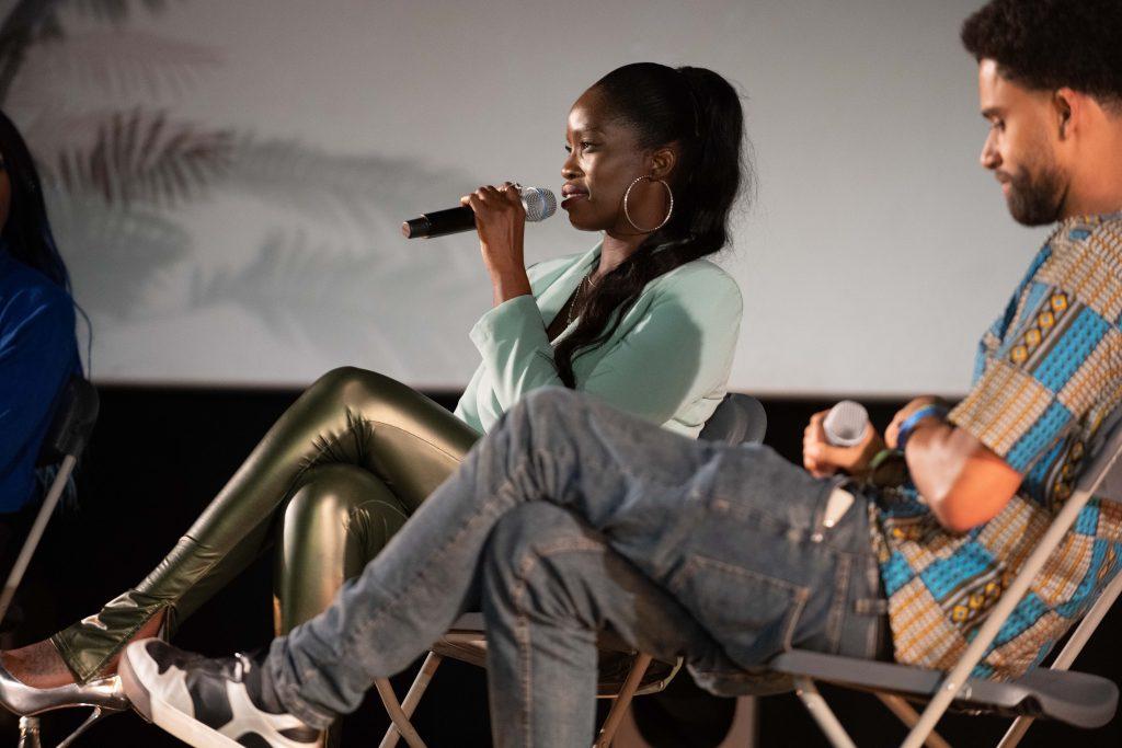 Freak de l'Afrique: »Afro x Beats x Berlin« (DJ Nomi) / Talk @ Kino in der Kulturbrauerei – Photo: Camille Blake