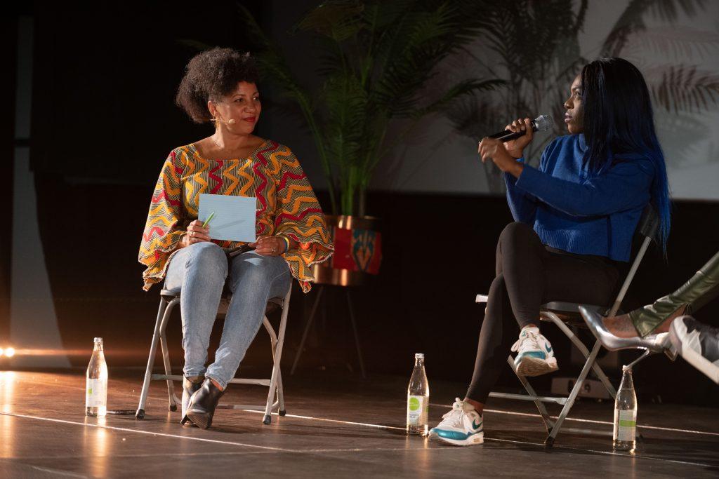 Freak de l'Afrique: »Afro x Beats x Berlin« (Miriam Camara, Bella Garcia) / Talk @ Kino in der Kulturbrauerei – Photo: Camille Blake