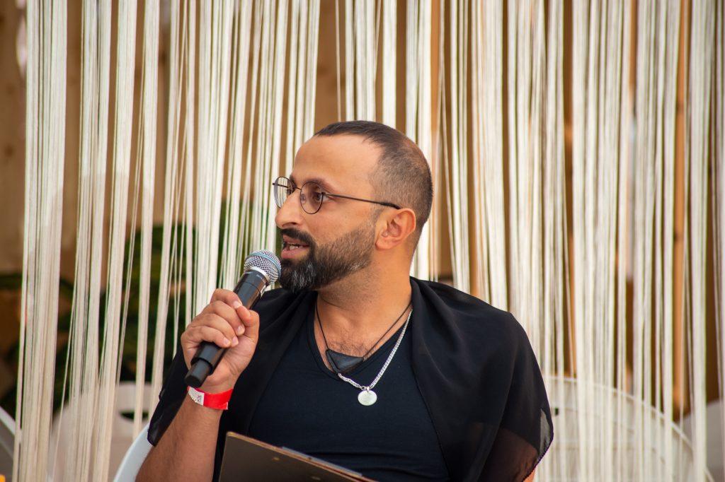 »Semra Ertan – Mein Name ist Ausländer« (Ahmet Demir) / Reading & Talk @ Çaystube – Photo: Käthe deKoe