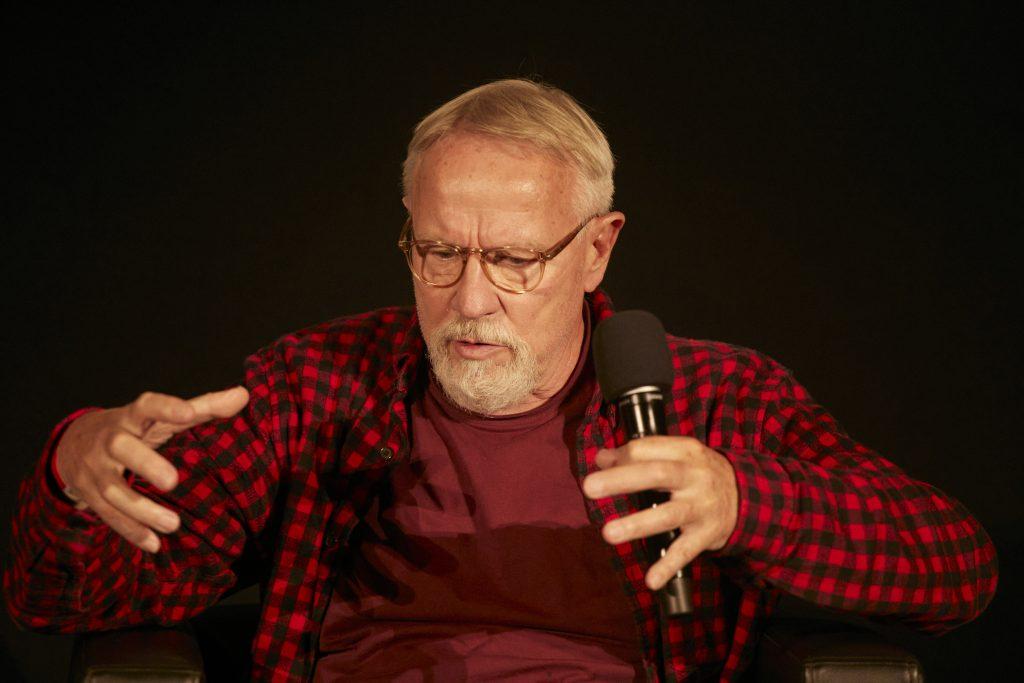 »Was ist Krautrock?« (Harald Grosskopf) / Talk @ Frannz Club – Photo: Phillip Zwanzig
